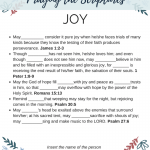 Praying the Scriptures – Joy