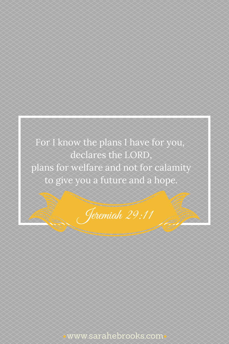 Word-filled Wednesday – Jeremiah 29:11