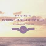 Word Filled Wednesday – Hebrews 11:1