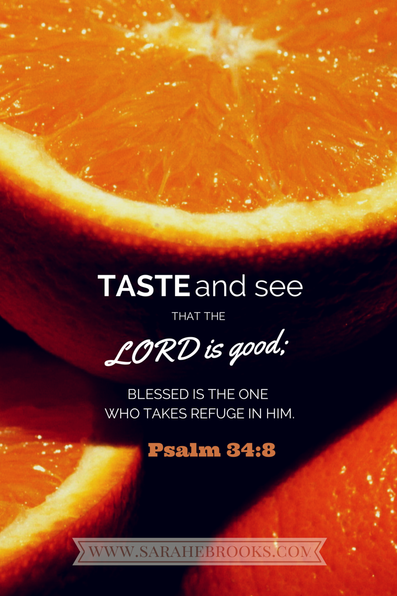 Word-filled Wednesday – Psalm 34:8