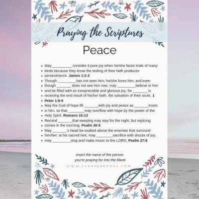Praying the Scriptures – Joy