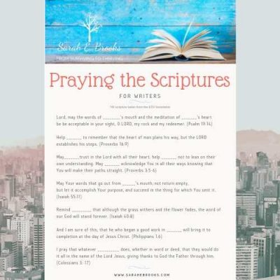 Praying the Scriptures for Writers